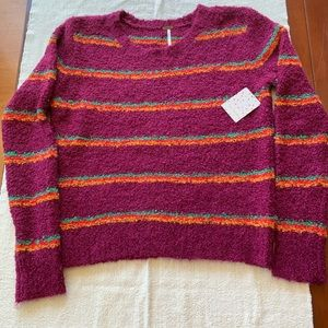 Free People Best Day Ever Color Block Knit Sweater